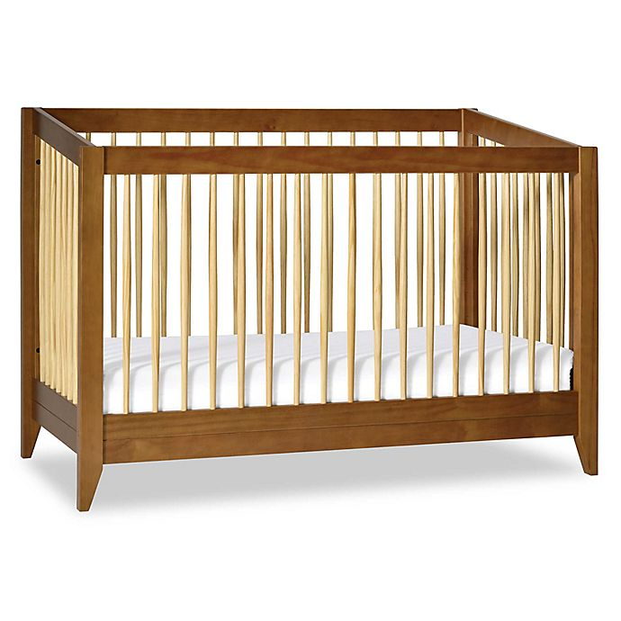 Alternate image 1 for Babyletto Sprout 4-in-1 Convertible Crib with Toddler Bed Conversion Kit in Chestnut