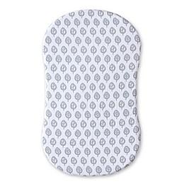 HALO® Bassinest™ Muslin Sheet in Grey/White Leaf Print