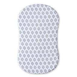 HALO® Bassinest™ Muslin Sheet in Grey/White Leaf Print