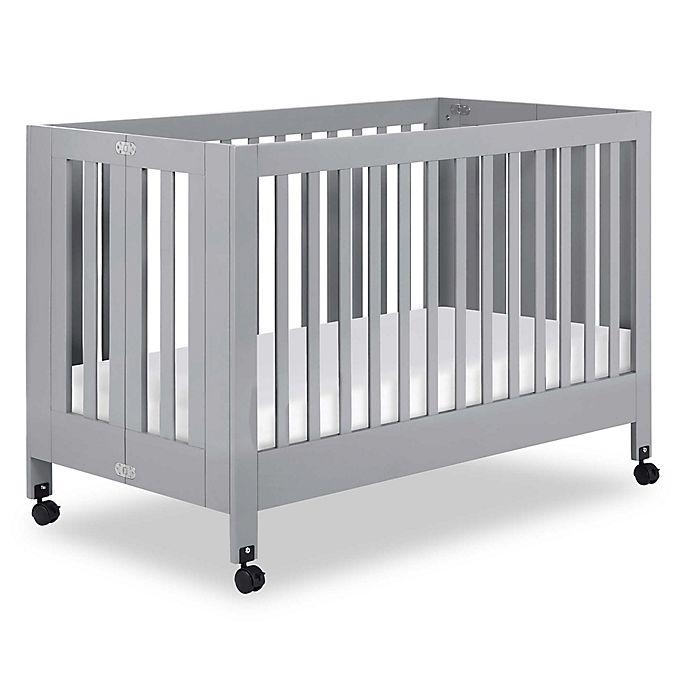 Alternate image 1 for Babyletto Maki Full Size Portable Crib in Grey