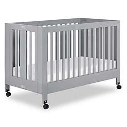 Babyletto Maki Full Size Portable Crib in Grey