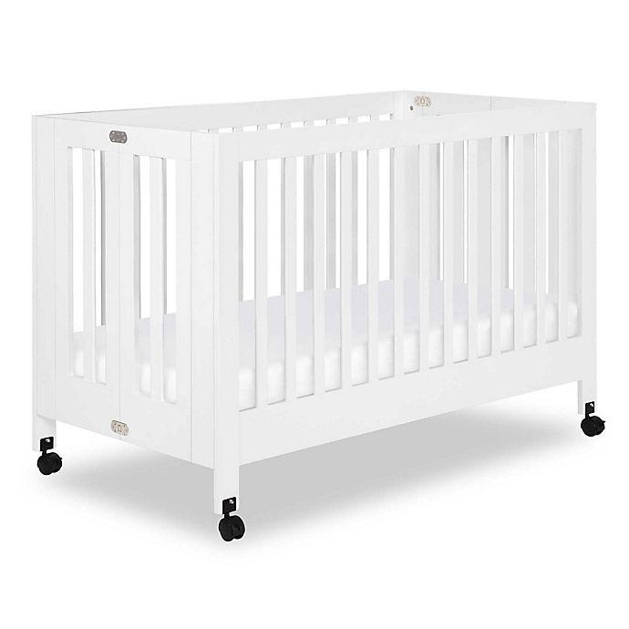 Alternate image 1 for Babyletto Maki Full Size Portable Crib in White