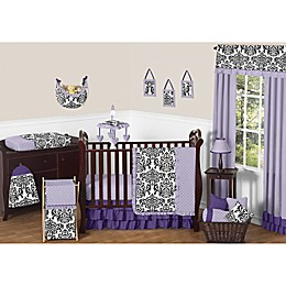 Sweet Jojo Designs Sloane Crib Bedding Collection in Purple/White