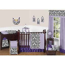 Sweet Jojo Designs Sloane Crib Bedding Collection in Purple/White