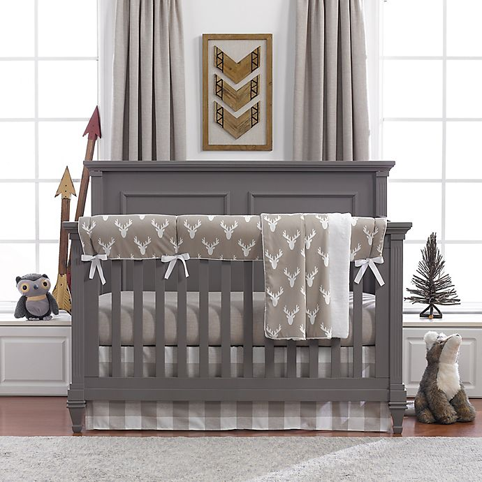 Alternate image 1 for Liz and Roo Buck Woodland Crib Bedding Collection in Taupe