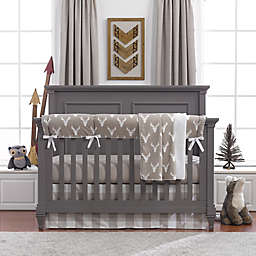 Liz and Roo Buck Woodland Crib Bedding Collection in Taupe