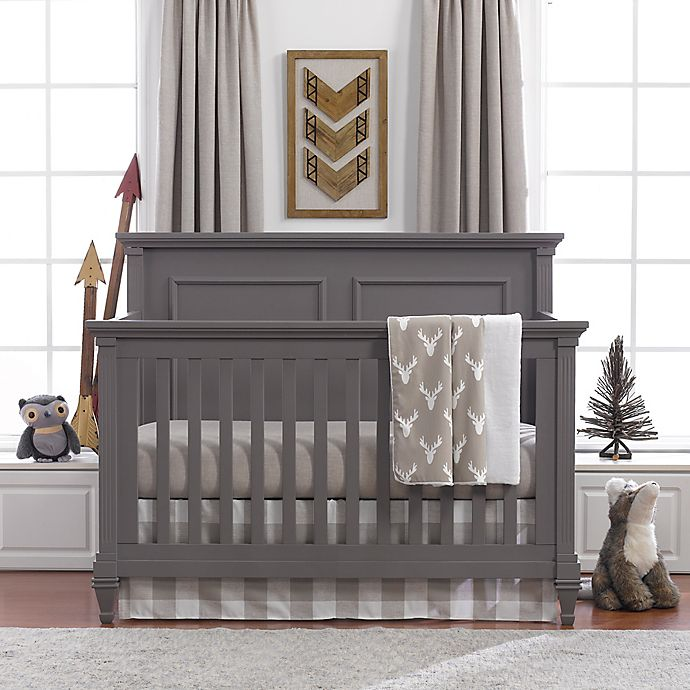 Alternate image 1 for Liz and Roo Buck Woodland 3-Piece Crib Bedding Set in Taupe