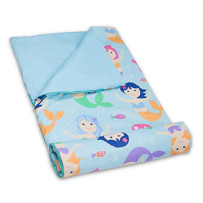 Alternate image 1 for Olive Kids Mermaids Microfiber Sleeping Bag in Blue