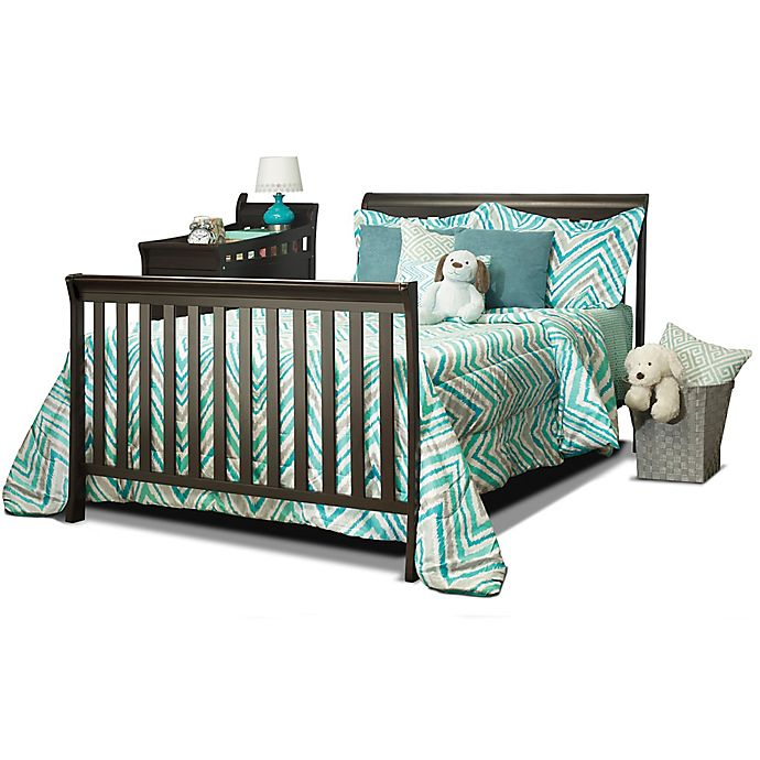 Alternate image 1 for Sorelle Florence Crib and Changer Adult Rail in Espresso