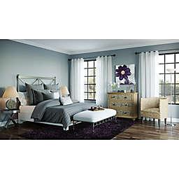 Pop of Plum Casual Bedroom