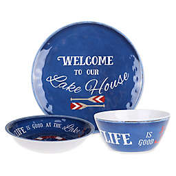 Welcome to Our Lake House Textured Dinnerware Collection