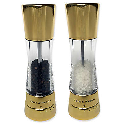 Cole & Mason Derwent Salt and Pepper Mill Collection in Gold