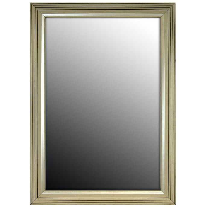 Alternate image 1 for Hitchcock-Butterfield 17-Inch x 35-Inch Vintage Stepped Mirror in Silver