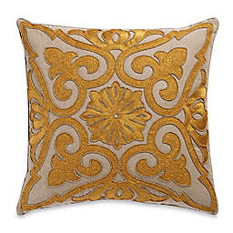 Beaded Damask Aari Embroidered Square Throw Pillow