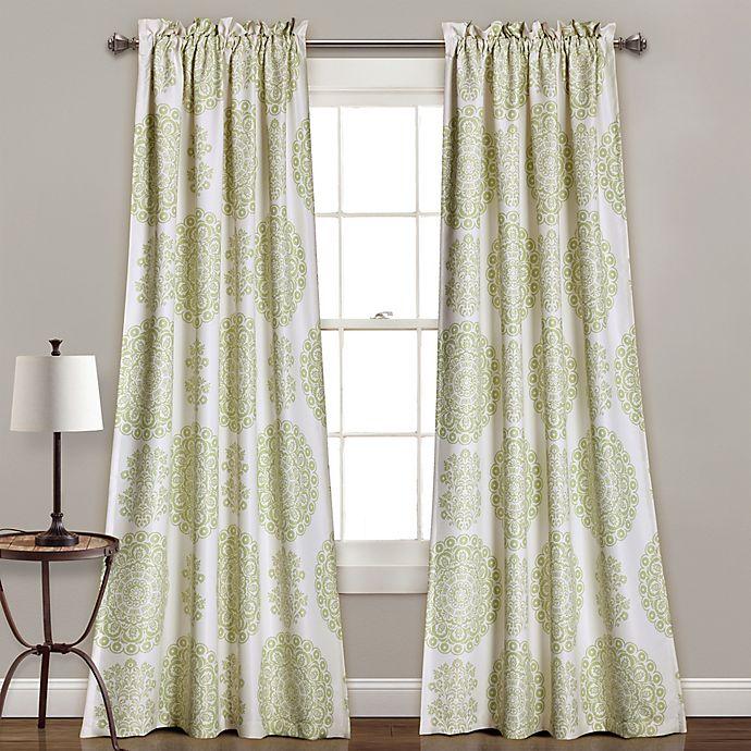 Alternate image 1 for Evelyn Medallion 84-Inch Room Darkening Window Curtain Panel Pair