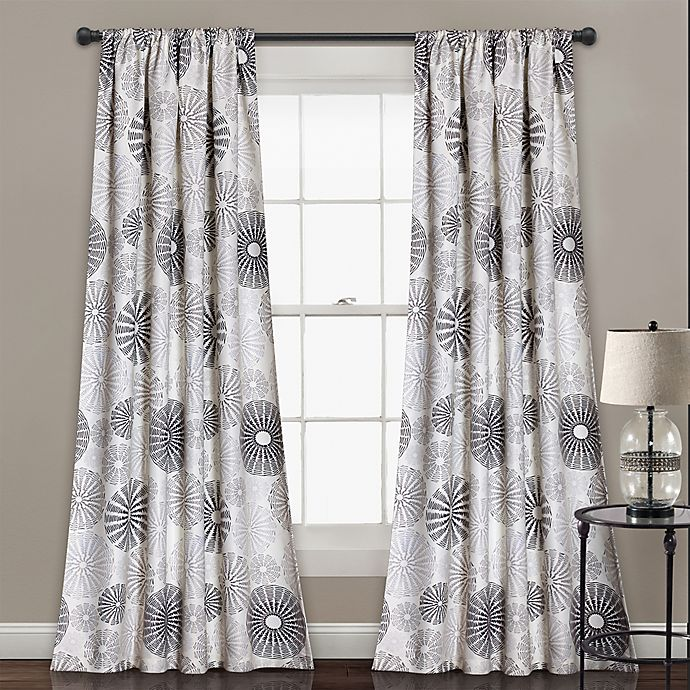 Alternate image 1 for Multi Circles 84-Inch Room Darkening Window Curtain Panel Pair in Charcoal/Grey