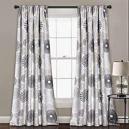 Multi Circles 84-Inch Room Darkening Rod Pocket Window Curtain Panel Pair (Single)