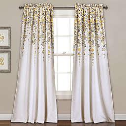 Weeping Flowers 84-Inch Room Darkening Rod Pocket Window Curtain Panel Pair (Single)