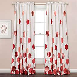 Flying Balloon 84-Inch Room Darkening Rod Pocket Window Curtain Panel Pair in Pink