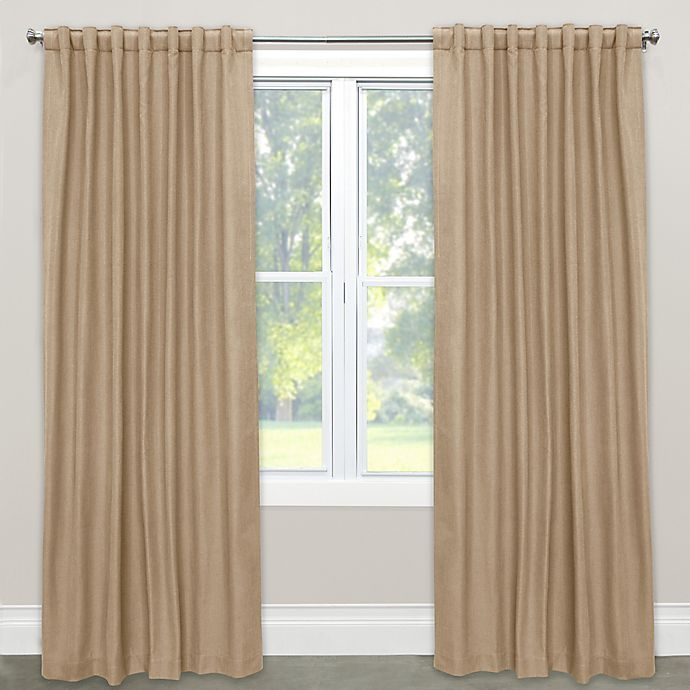 Alternate image 1 for Skyline Furniture Skyline Linen-Blend 63-Inch Rod Pocket/Back Tab Window Curtain Panel in Sandstone