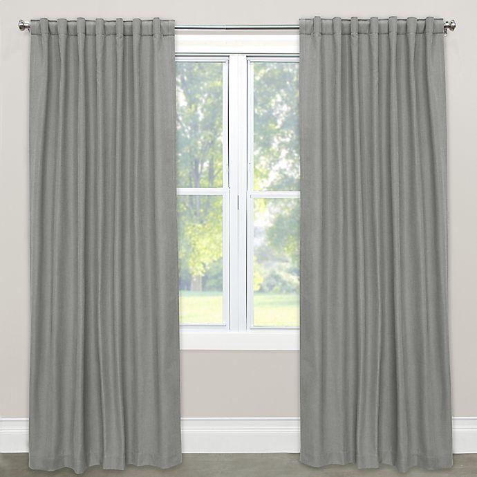 Alternate image 1 for Skyline Furniture Skyline Linen-Blend 63-Inch Rod Pocket/Back Tab Window Curtain Panel in Grey