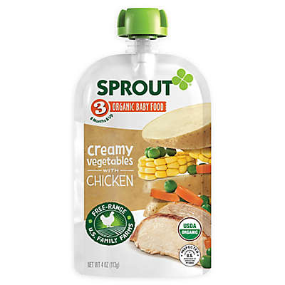 Sprout® 4-Ounce Stage 3 Organic Baby Food in Creamy Vegetables with Chicken