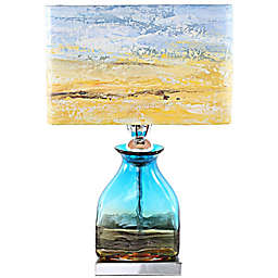 River of Goods Impressionist Table Lamp with Hand Painted Shade