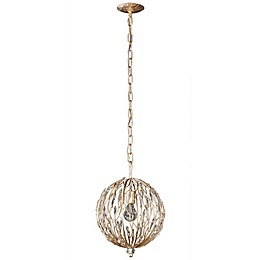 Varaluz® Bask Ceiling Pendant Light in Gold