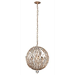 Varaluz® Bask 3-Light Ceiling Pendant Light in Gold