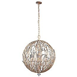 Varaluz® Bask 6-Light Ceiling Pendant Light in Gold