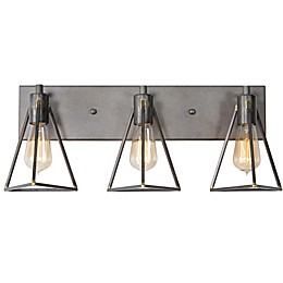 Varaluz® Trini 3-Light Wall Mount Vanity Light in Charcoal