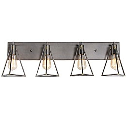 Varaluz® Trini 4-Light Wall Mount Vanity Light in Charcoal
