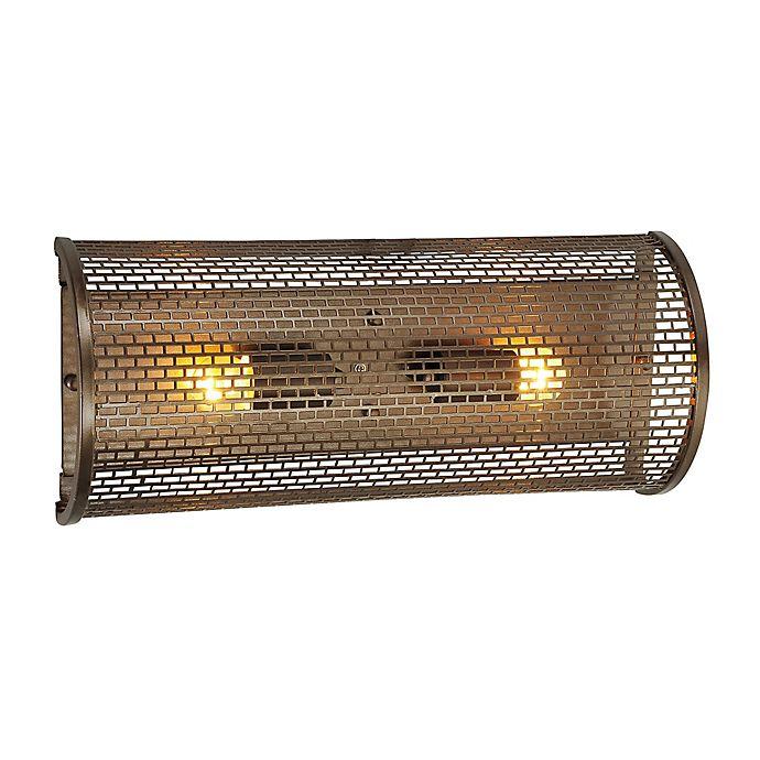 Alternate image 1 for Varaluz Lit-mesh Test 2-Light Vanity Light in Bronze