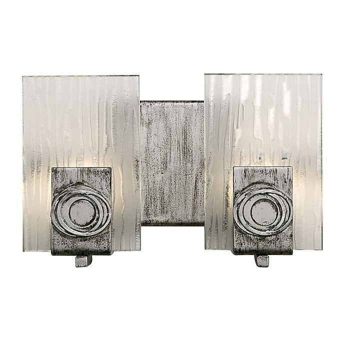Alternate image 1 for Varaluz Polar 2-Light Vanity Light in Blackened Silver