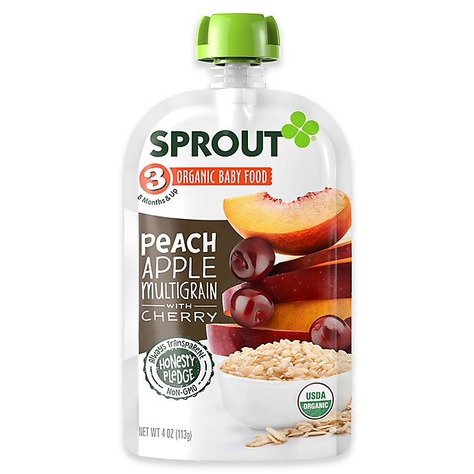 Alternate image 1 for Sprout® 4-Ounce Stage 3 Organic Baby Food in Multigrain Cereal with Blackberries