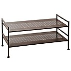 2-Tier Perforated Shoe Storage Rack in Bronze