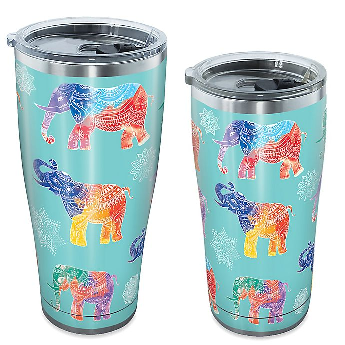 Alternate image 1 for Tervis® Mendhi Elephants Stainless Steel Tumbler with Lid