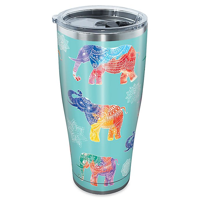 Alternate image 1 for Tervis® Mendhi Elephants 30 oz. Stainless Steel Tumbler with Lid