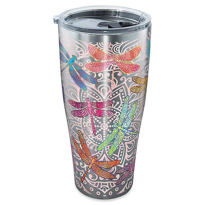 Alternate image 1 for Tervis® SIC® Dragonfly Mandala 30-oz. Stainless Steel Tumbler with Lid