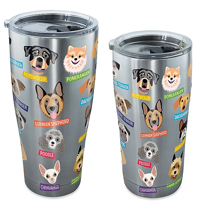 Alternate image 1 for Tervis® Flat Art Dog Breed Tumbler with Lid in Stainless Steel