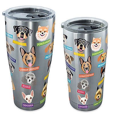 Tervis® Flat Art Dog Breed Tumbler with Lid in Stainless Steel