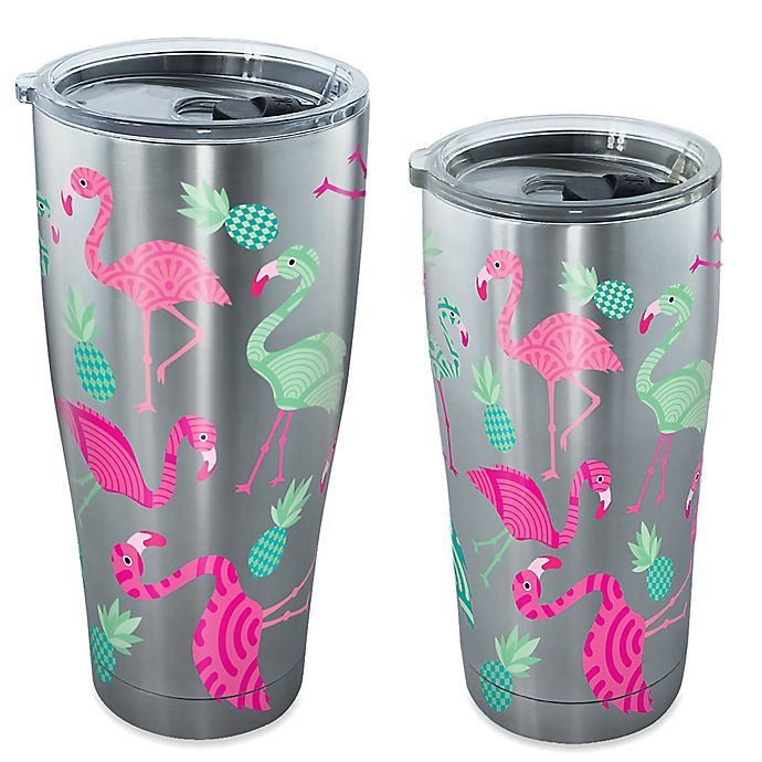 Alternate image 1 for Tervis® Flamingo Pattern Stainless Steel Tumbler