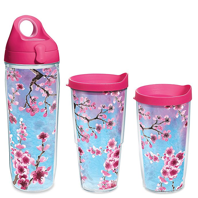 Alternate image 1 for Tervis® Colorful Blossoms Wrap Drinkware with Lid