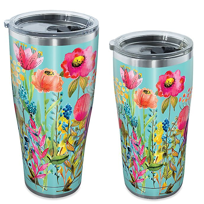 Tervis Sic Watercolor Wildflowers Stainless Steel Tumbler With Lid