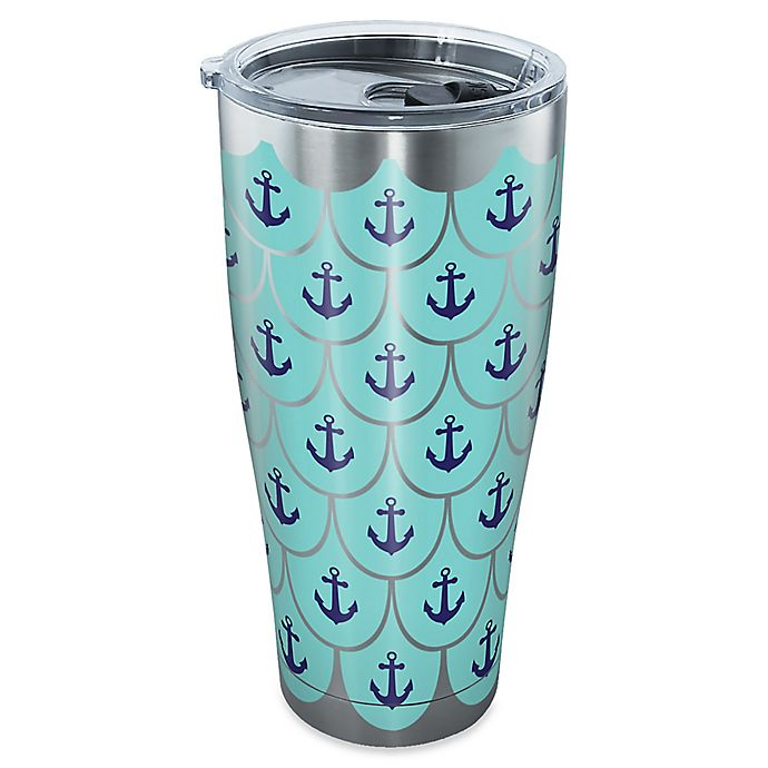 Alternate image 1 for Tervis® Great Outdoors Anchor Scallop 30 oz. Tumbler with Lid in Stainless Steel
