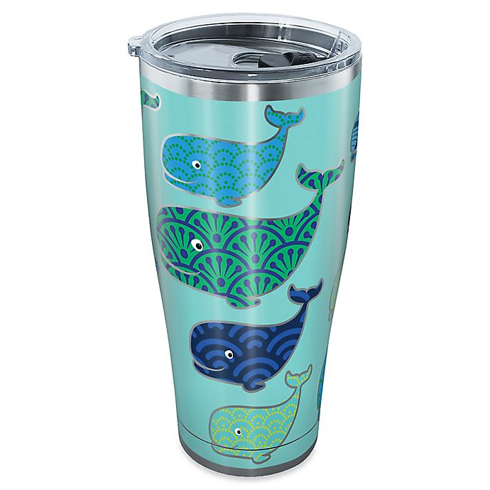 Alternate image 1 for Tervis® Whale Pattern 30 oz. Stainless Steel Tumbler with Lid