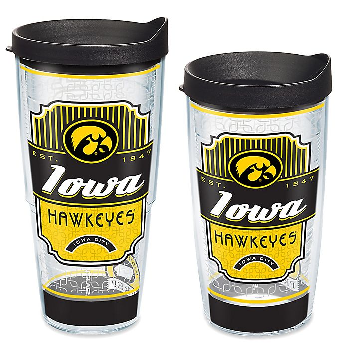 Alternate image 1 for Tervis® University of Iowa College Prep Drinkware with Lid