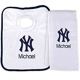 Designs by Chad and Jake MLB New York Yankees Bib and Burp 2-Piece Set