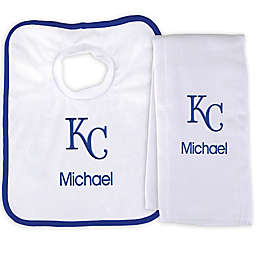 Designs by Chad and Jake MLB Kansas City Royals Bib and Burp 2-Piece Set