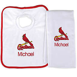 Designs by Chad and Jake MLB St. Louis Cardinals Bib and Burp 2-Piece Set